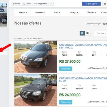Integração com Facebook disponível no Revenda Mais