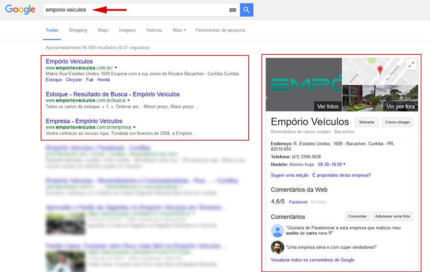 Melhoria do posicionamento no Google