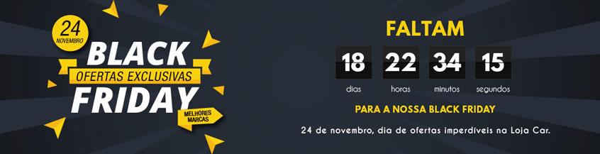 Banner da home do site com contagem regressiva